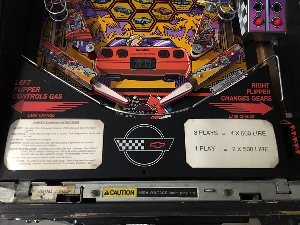 Corvette Pinball Repair
