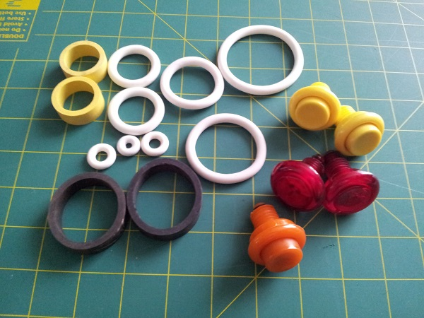 Pinball rubber and buttons