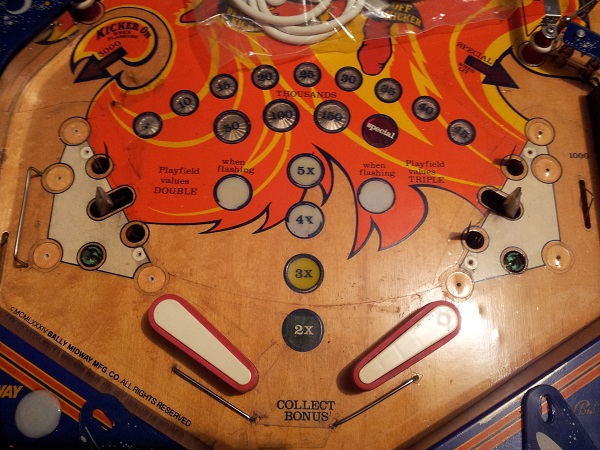 Fireball lower playfield