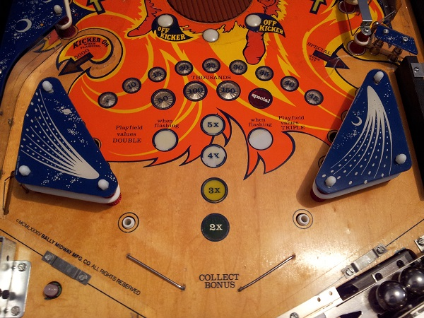 Fireball lower playfield complete