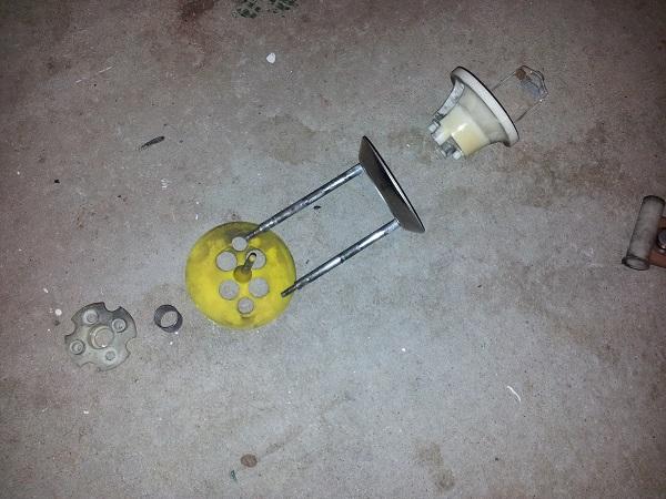Nugent pop bumper disassembled