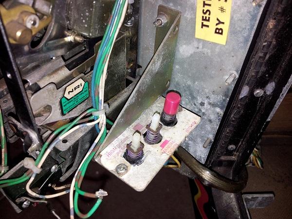 Pinbot coin door service panel