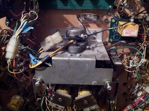 Pinbot target bank motor start