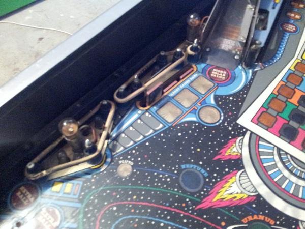 Pinbot playfield drop targets