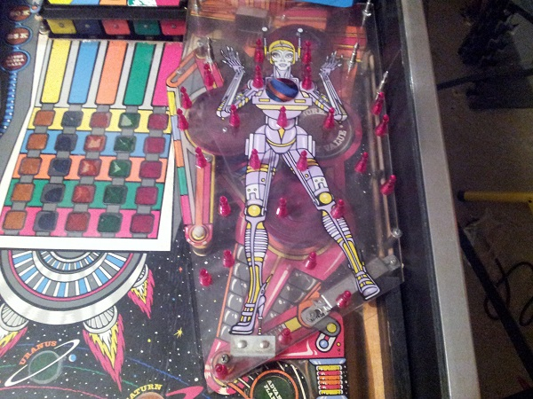 Pinbot mini playfield no rubber