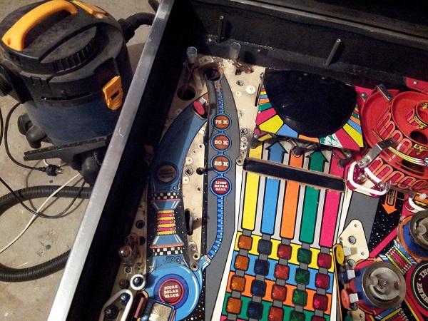 Pinbot playfield dirty