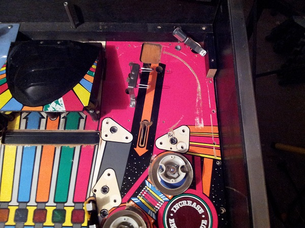 Pinbot upper playfield clean